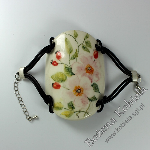 bransoleta, bransoletka ceramiczna / bez srebra
